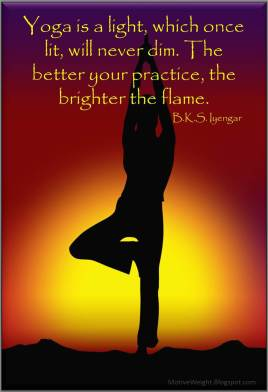 Yoga is a light